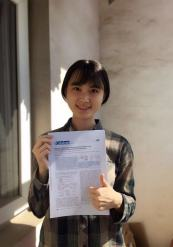 Xiaohan's photo with paper!